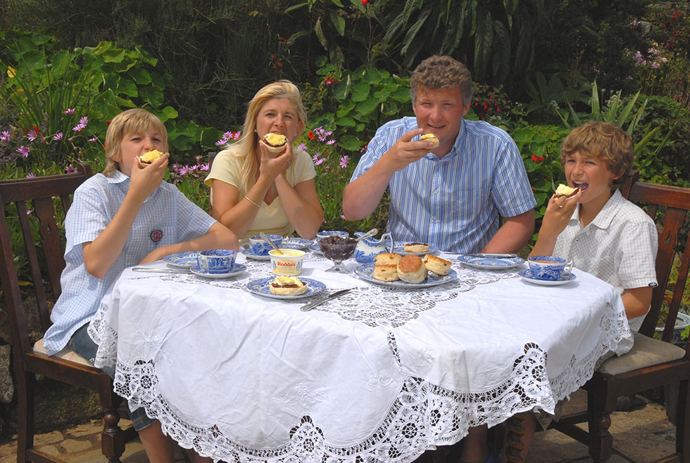 family cream tea scones clotted cream