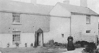 Eliza Jane outside Farmhouse 1890