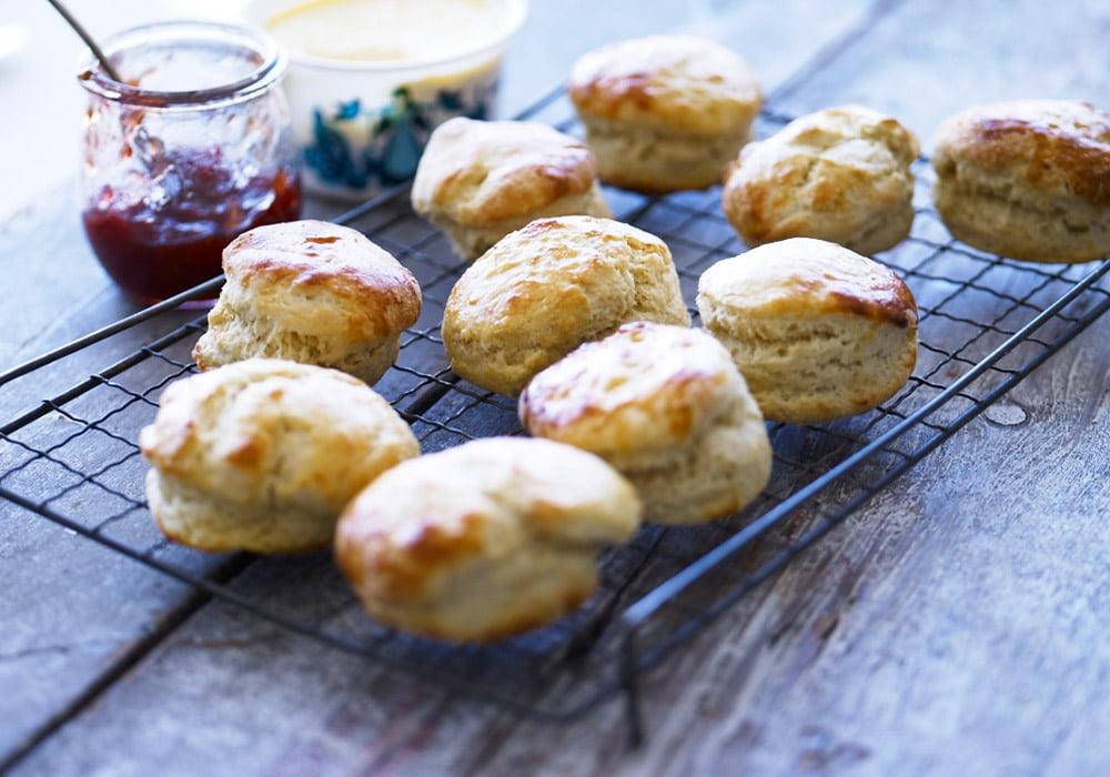 freshly bakes scones roddas