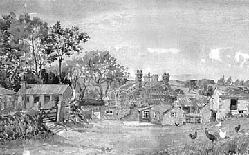 painting of the old farm house