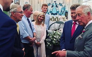 Prince Charles at royal Cornwall show with Nick Rodda