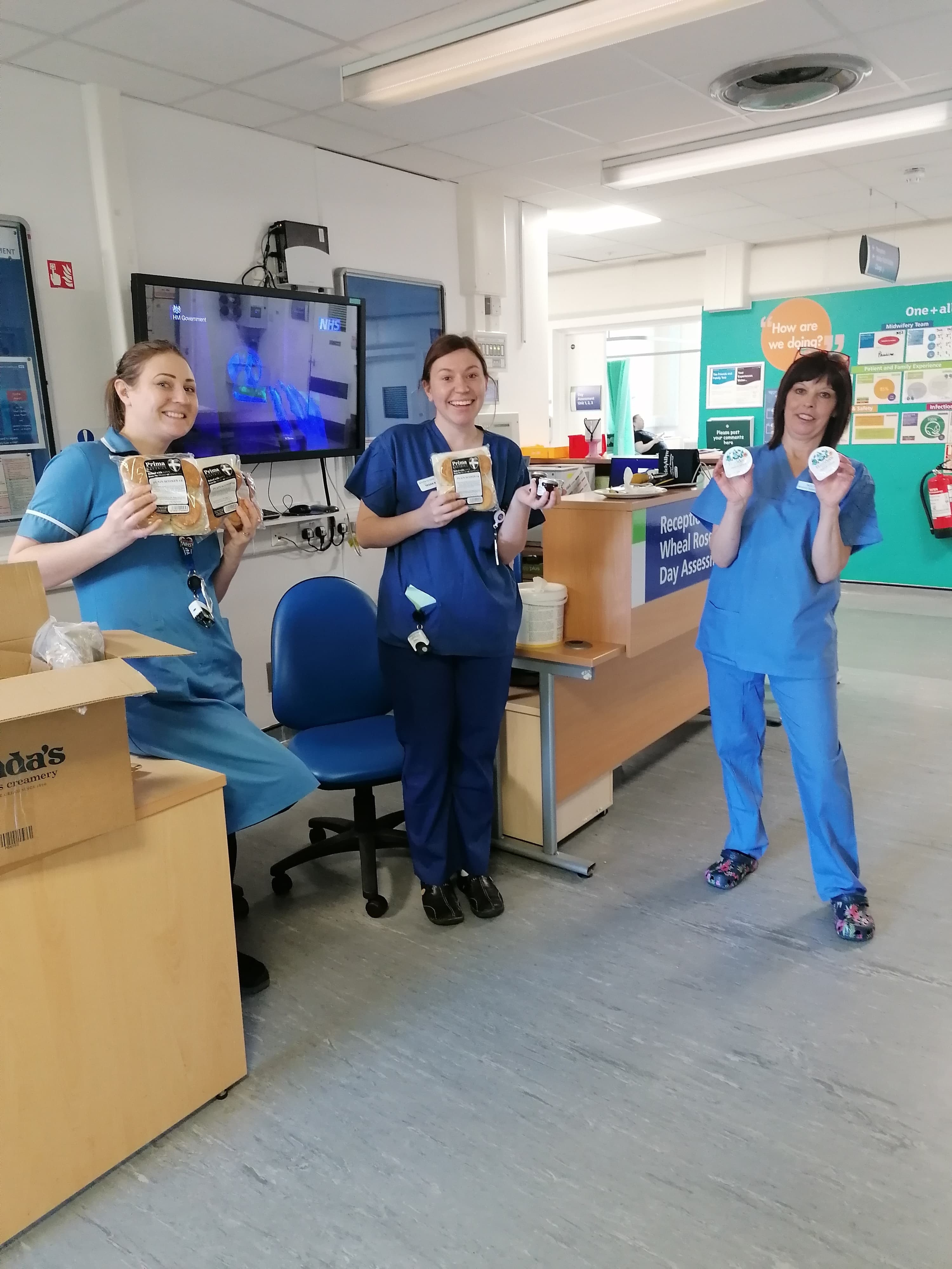 Nurses with cream tea