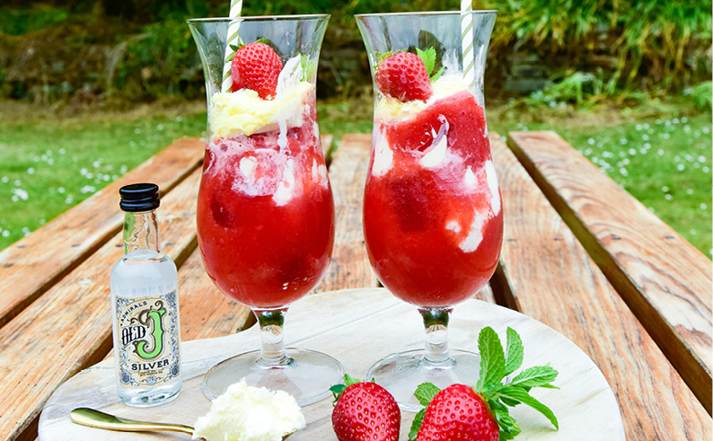 clotted cream strawberry daquari