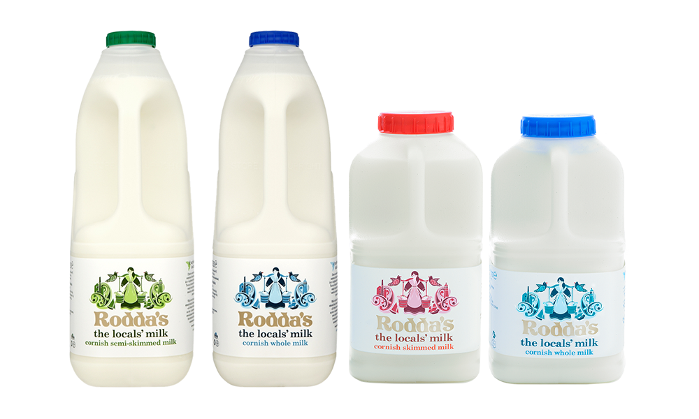 roddas milk local cornish