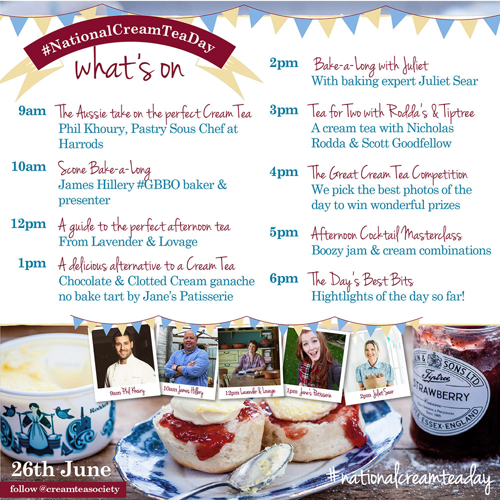 National Cream Tea Day highlighting all events