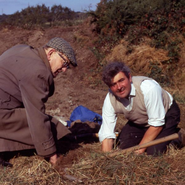 Willie Rodda and Carol Harvey digging