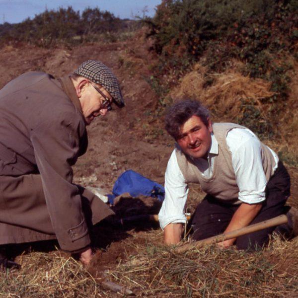 Willie Rodda and Carol Harvey digging